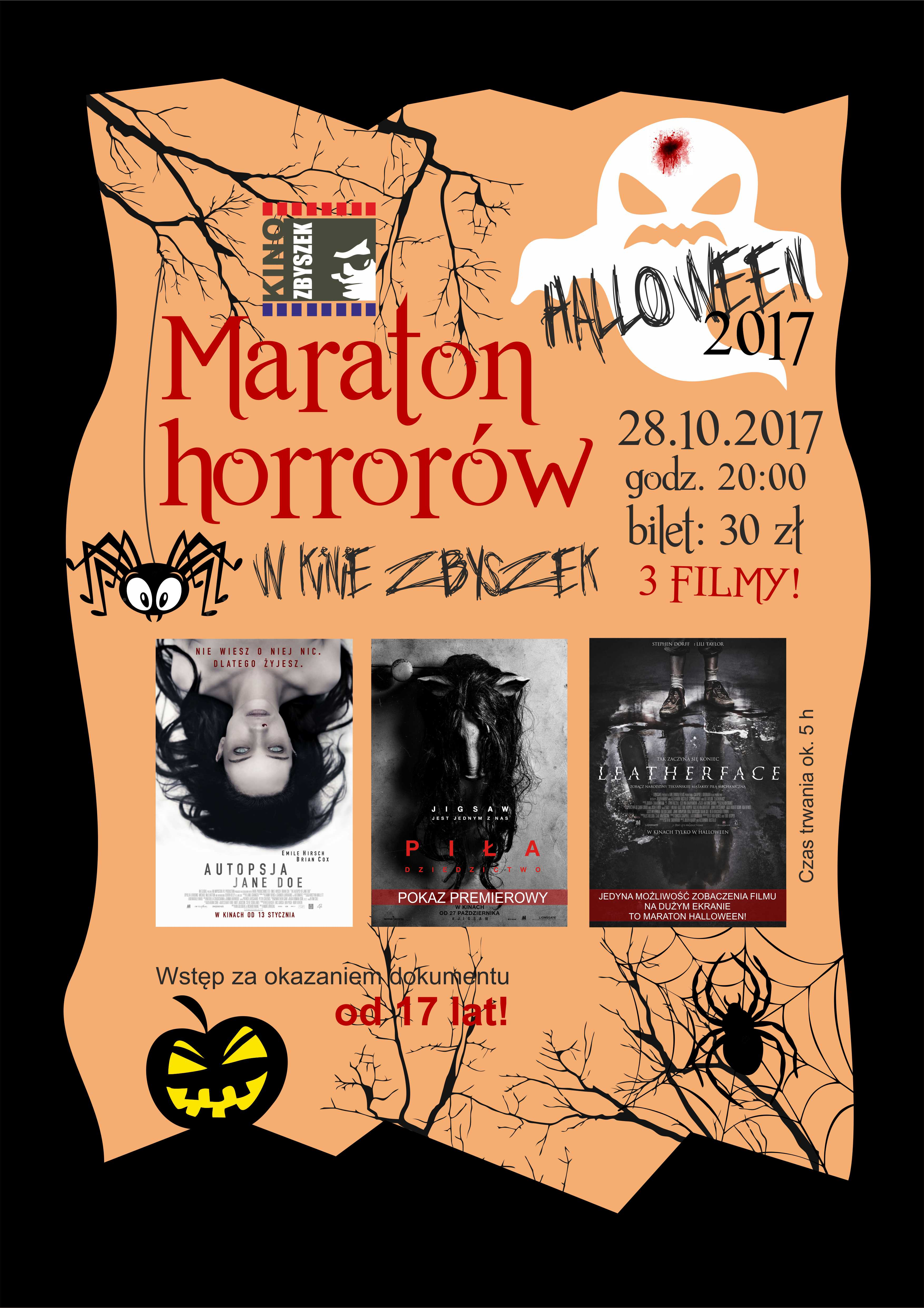 maraton horrorow 2017 plakat